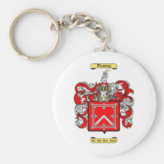 fleming (scottish) basic round button keychain