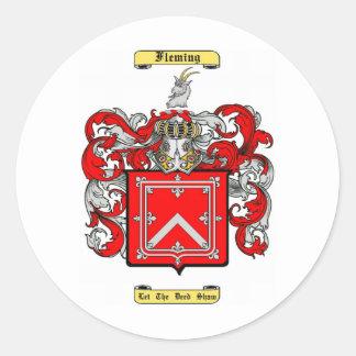 fleming (scottish) classic round sticker