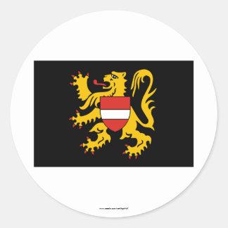Flemish Brabant Flag Sticker