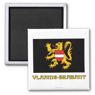 Flemish Brabant Flag with Name Magnet