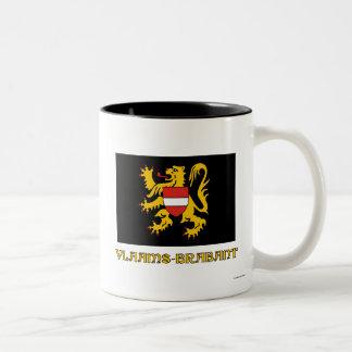 Flemish Brabant Flag with Name Two-Tone Coffee Mug