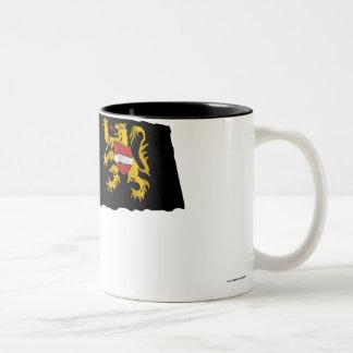 Flemish Brabant Waving Flag Two-Tone Coffee Mug