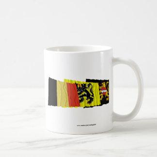 Flemish Brabant Waving Flags Trio Coffee Mug