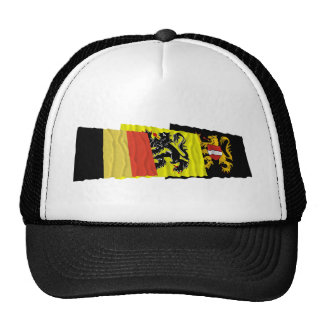 Flemish Brabant Waving Flags Trio Trucker Hat