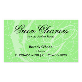 Flemish Business Card/ Green Double-Sided Standard Business Cards (Pack Of 100)