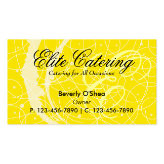 Flemish Business Card/ Yellow Double-Sided Standard Business Cards (Pack Of 100)