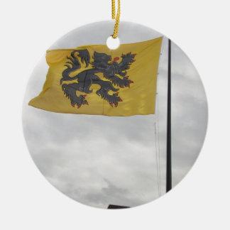 Flemish Flag Christmas Tree Ornaments
