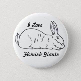 Flemish Giant Bunny Button