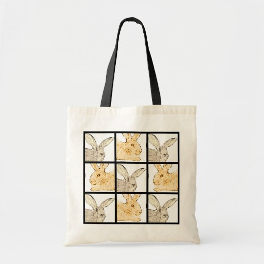 Flemish Giant Faces Collage Tote