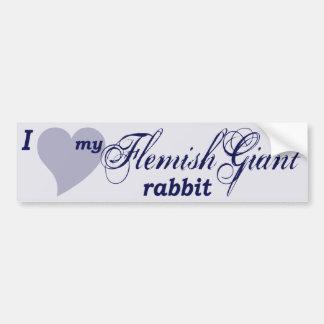 Flemish Giant rabbit Bumper Sticker