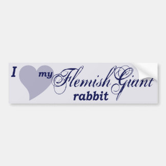 Flemish Giant rabbit Car Bumper Sticker
