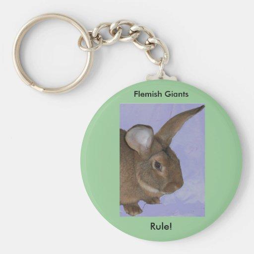 Flemish Giant Rabbit Keychain