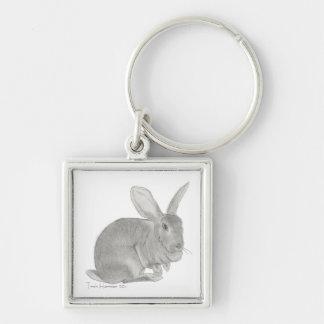 Flemish Giant Rabbit Sketch Keychain