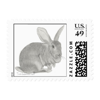 Flemish Giant Rabbit Sketch Postage