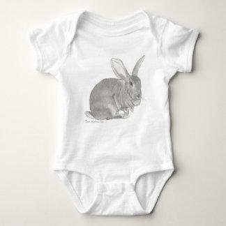 Flemish Giant Rabbit Sketch the Gentle Giant Baby Bodysuit