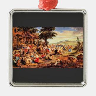 Flemish Kirmes by Paul Rubens Christmas Ornament