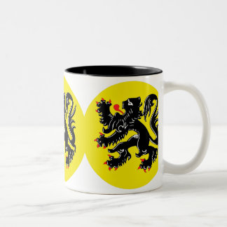 Flemish lion of Flanders koffiemok deluxe Two-Tone Coffee Mug