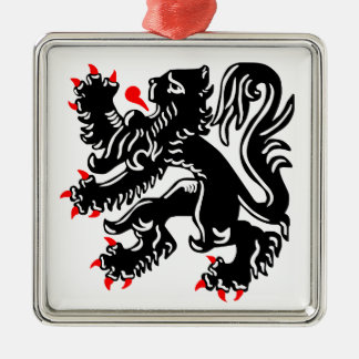 Flemish Lion Christmas Tree Ornament