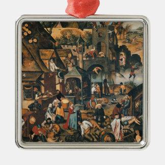 Flemish Proverbs Christmas Tree Ornament