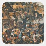 Flemish Proverbs Square Sticker