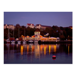 Flensburg harbour city center north Germany night Postcard