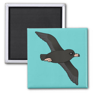 Flesh-footed Shearwater (flying) 2 Inch Square Magnet