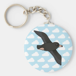 Flesh-footed Shearwater (flying) Basic Round Button Keychain