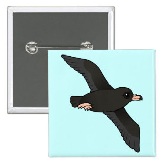 Flesh-footed Shearwater (flying) Button
