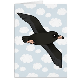 Flesh-footed Shearwater (flying) Card