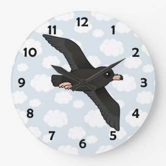 Flesh-footed Shearwater (flying) Large Clock