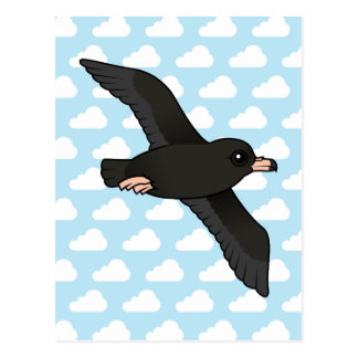 Flesh-footed Shearwater (flying) Postcard