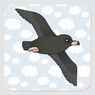 Flesh-footed Shearwater (flying) Square Sticker