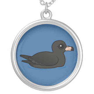 Flesh-footed Shearwater Silver Plated Necklace