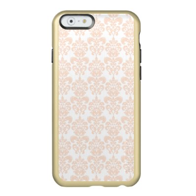 FLESH PINK GIRLY DAMASK PATTERN 2 INCIPIO FEATHER® SHINE iPhone 6 CASE