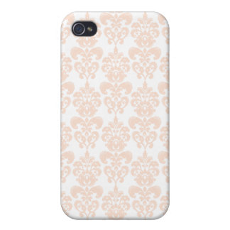 FLESH PINK GIRLY DAMASK PATTERN 2 iPhone 4/4S COVER