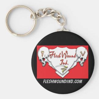 Flesh Wound Ind Basic Round Button Keychain