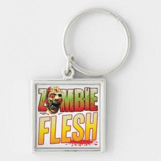 Flesh Zombie Head Key Chains