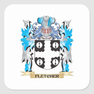 Fletcher Coat of Arms - Family Crest Stickers