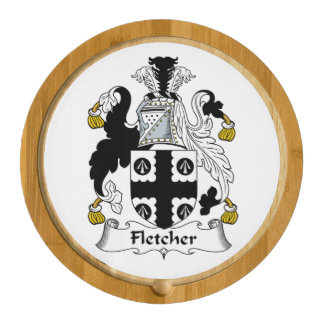 Fletcher Family Crest Round Cheese Board