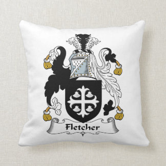 Fletcher Family Crest Throw Pillows