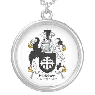 Fletcher Family Crest Silver Plated Necklace