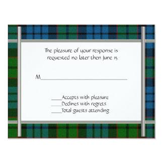 Fletcher Plaid Wedding RSVP Card