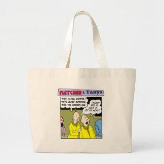 Fletcher & Tanya #2 Large Tote Bag