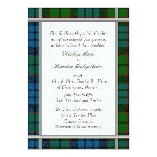 Fletcher Tartan Plaid Wedding Invitation