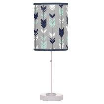 Fletching Arrow Lamp - Navy, Mint and grey