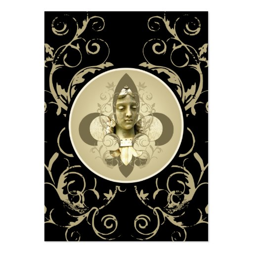 Fleur Angel Statue cards Business Card Template
