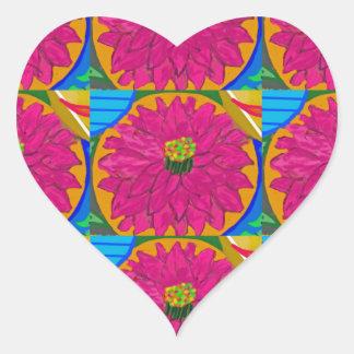 fleur artistique  UNIQUE Flower  by NavinJOSHI Heart Sticker