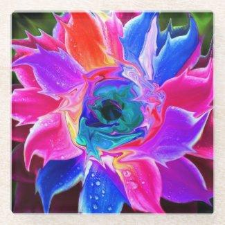 fleur coaster yo glass coaster