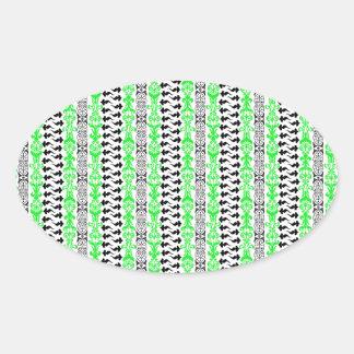 Fleur Custom 1 Green Oval Sticker