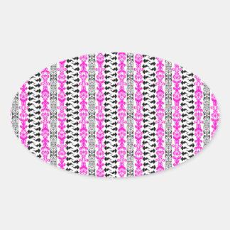 Fleur Custom 1 Pink Oval Sticker